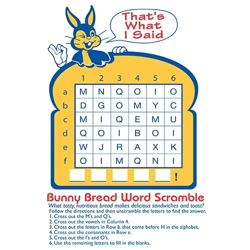 word scramble activity sheet